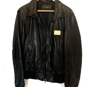 Dolce & Gabbana Men's leather jacket 48 Black
